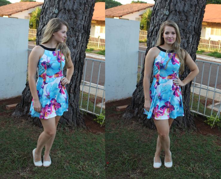 vestido floral loja yoins só para meninas