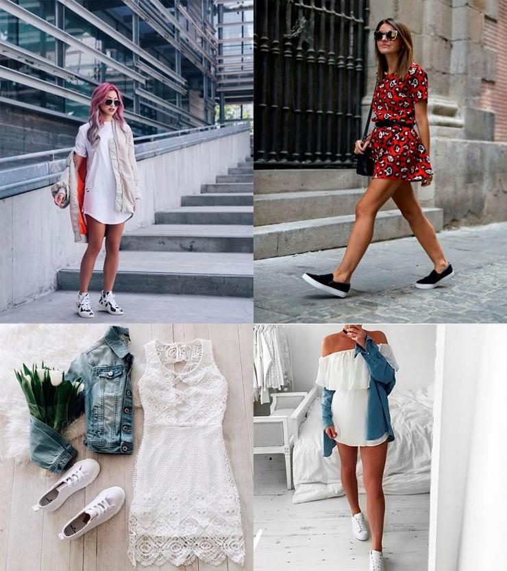 Vestido E Tênis Dica De Look Só Para Meninas Blog