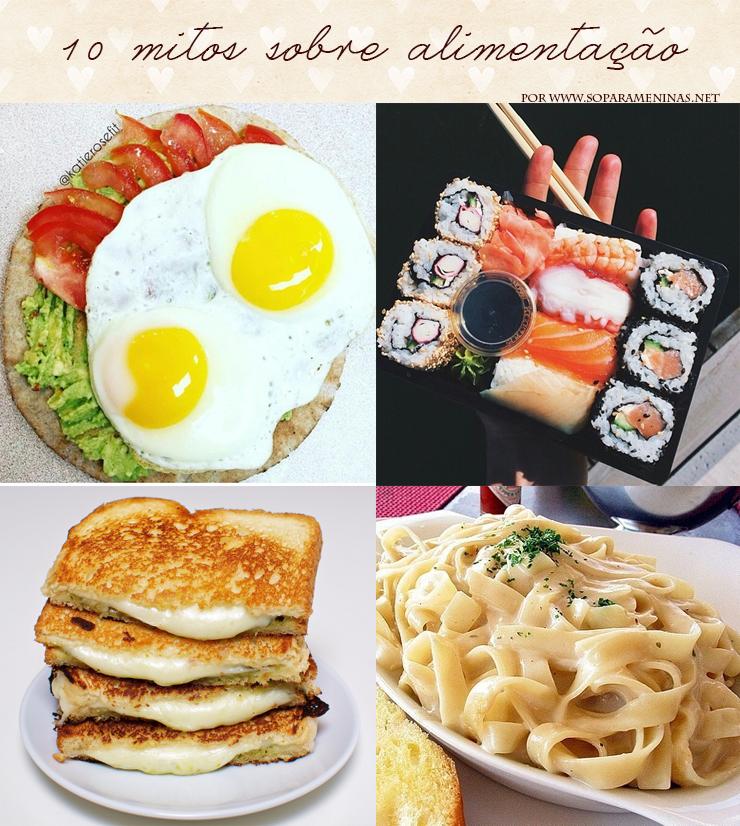 10 mitos sobre alimentação