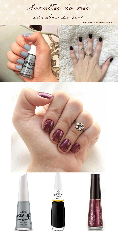 cores de esmalte do mes blog so para meninas esmalte da semana
