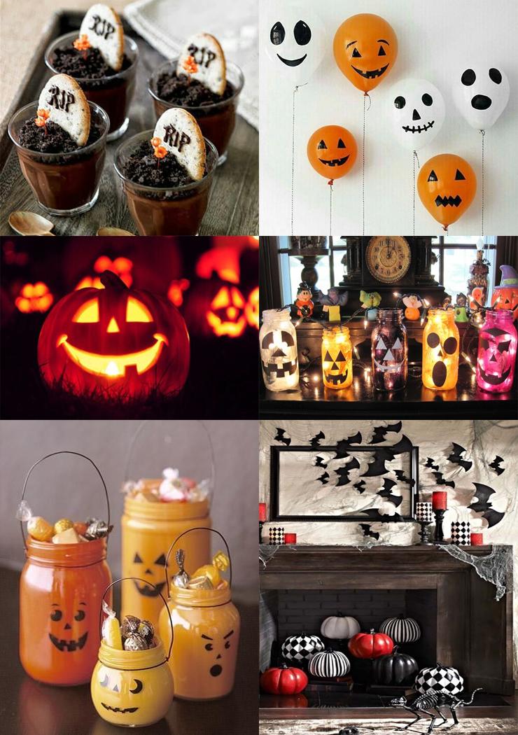 decoração facil de halloween