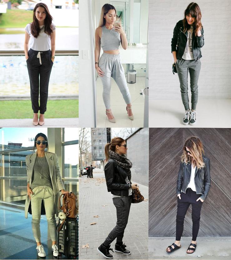 b6535f60c Tendência  looks com calça de moletom! - blog Só Para Meninas