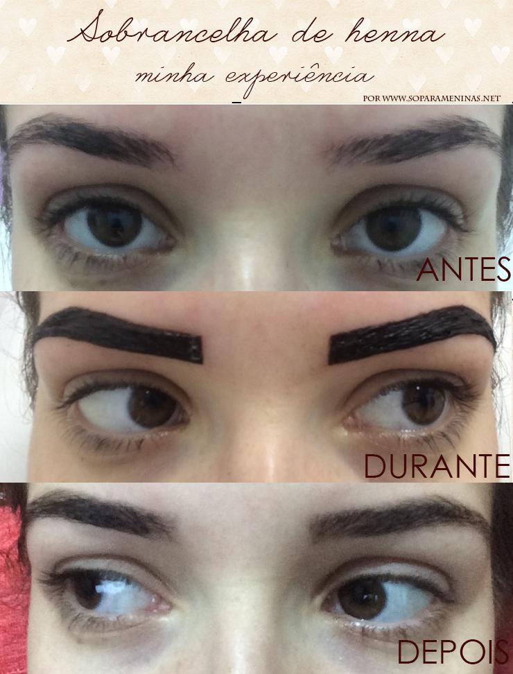 sobrancelha de henna funciona antes e depois