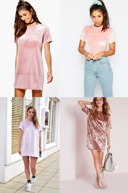 tshirt velvet camiseta de veludo rosa