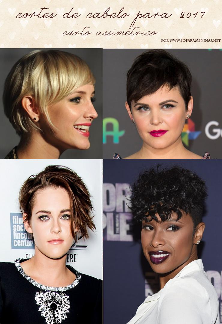 cortes de cabelo para 2017 curto assimetrico