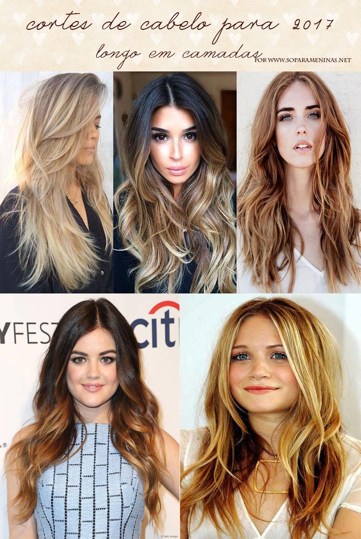 cortes de cabelo para 2017 longo em camadas