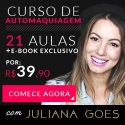Curso de maquiagem online, com Juliana Goes