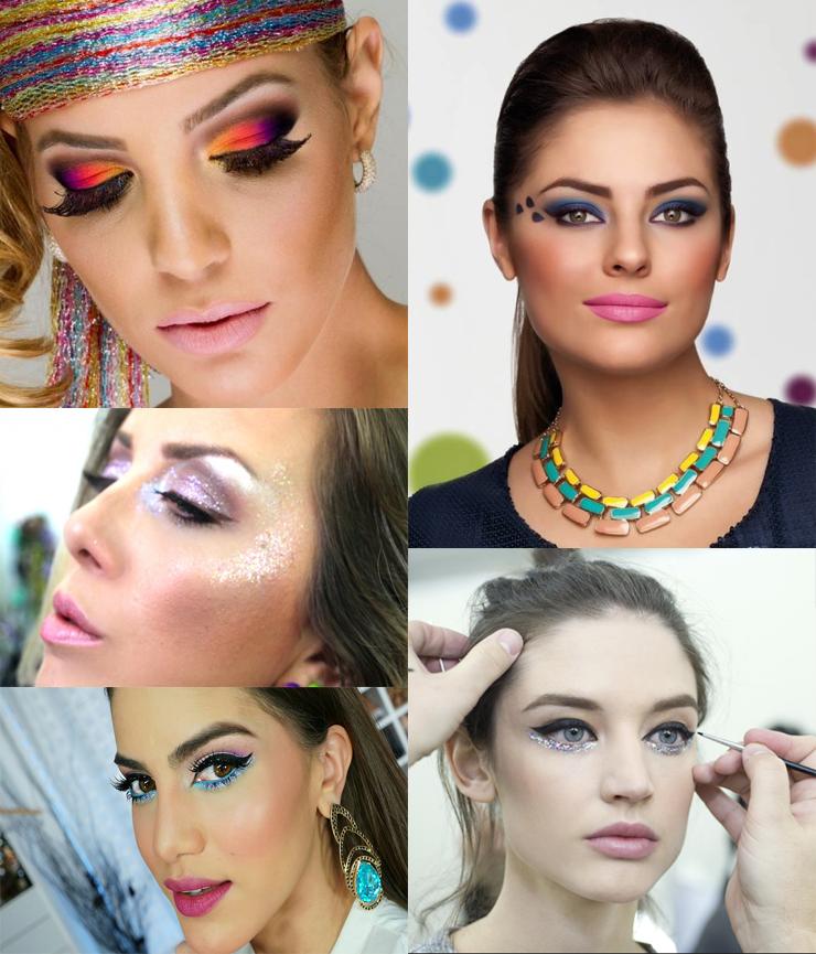 maquiagem para o carnaval 2017 glitter