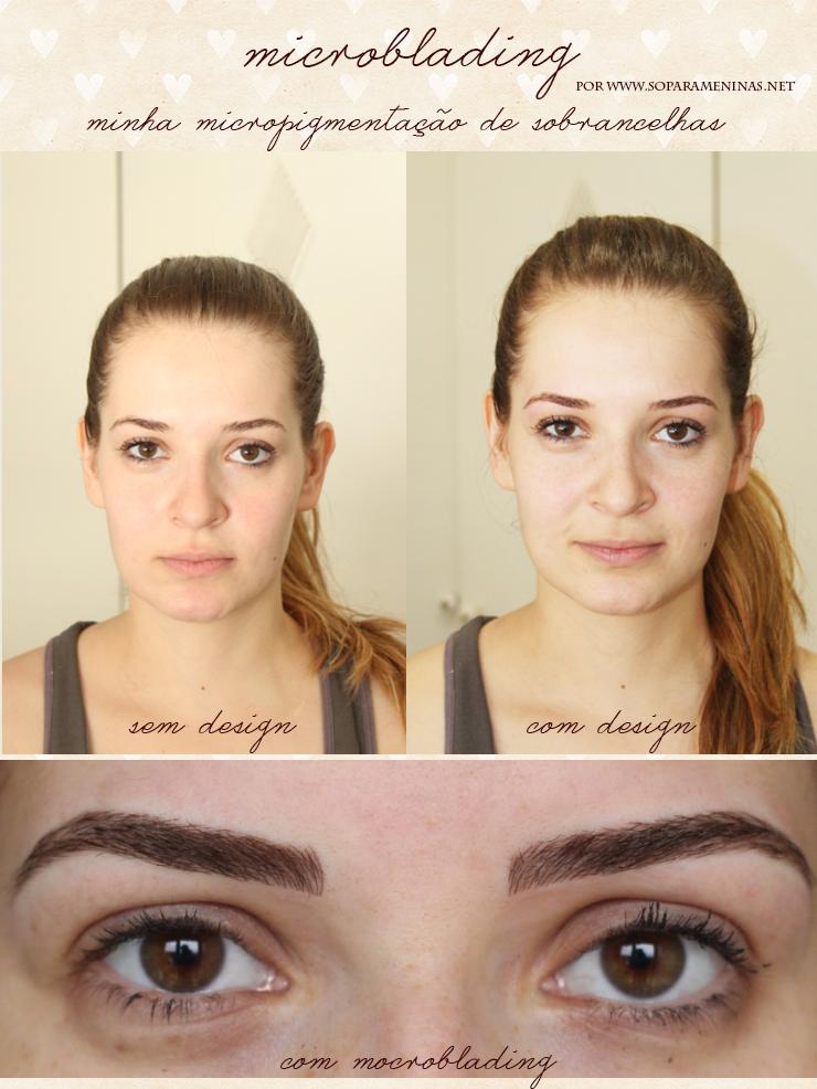 microblading micropigmentação fio a fio de sobrancelhas antes e depois