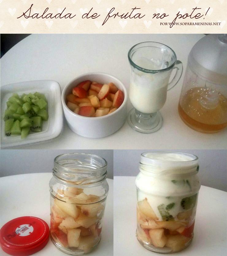salada de fruta no pote