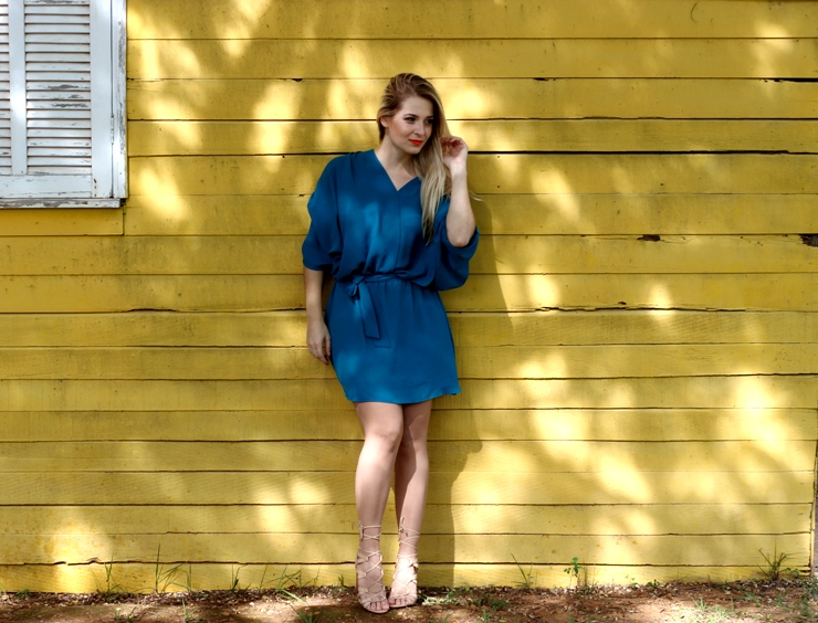 look vestido turquesa lança perfume blog só para meninas