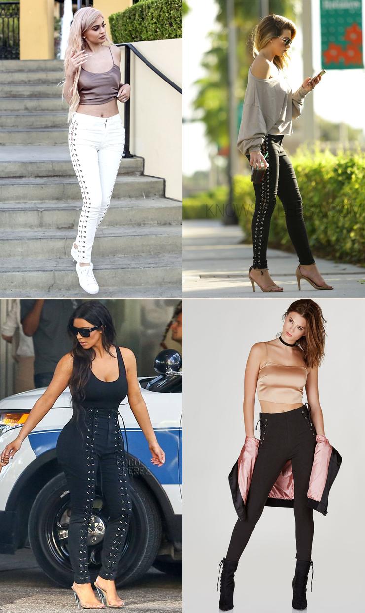 tendencia lace up pants moda inverno 2017
