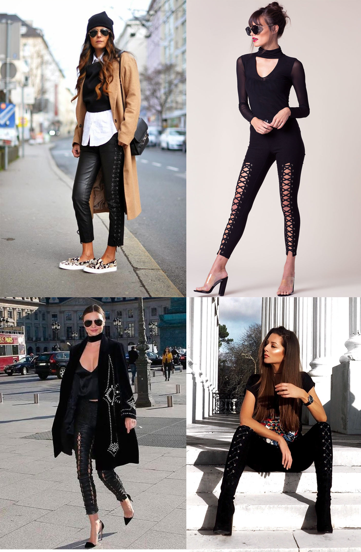 tendencia lace up pants moda inverno 2017