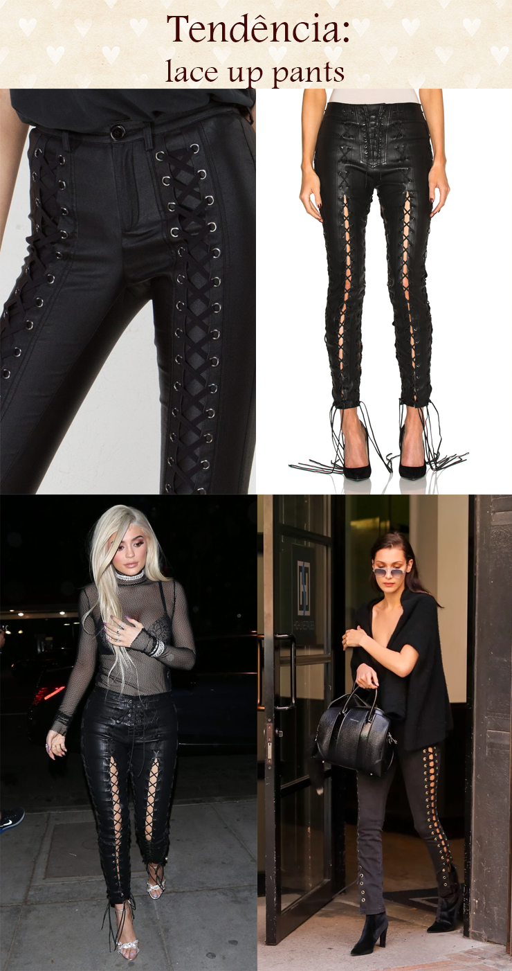 tendencia lace up pants