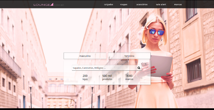 Moda facilitando as compras online lounge A
