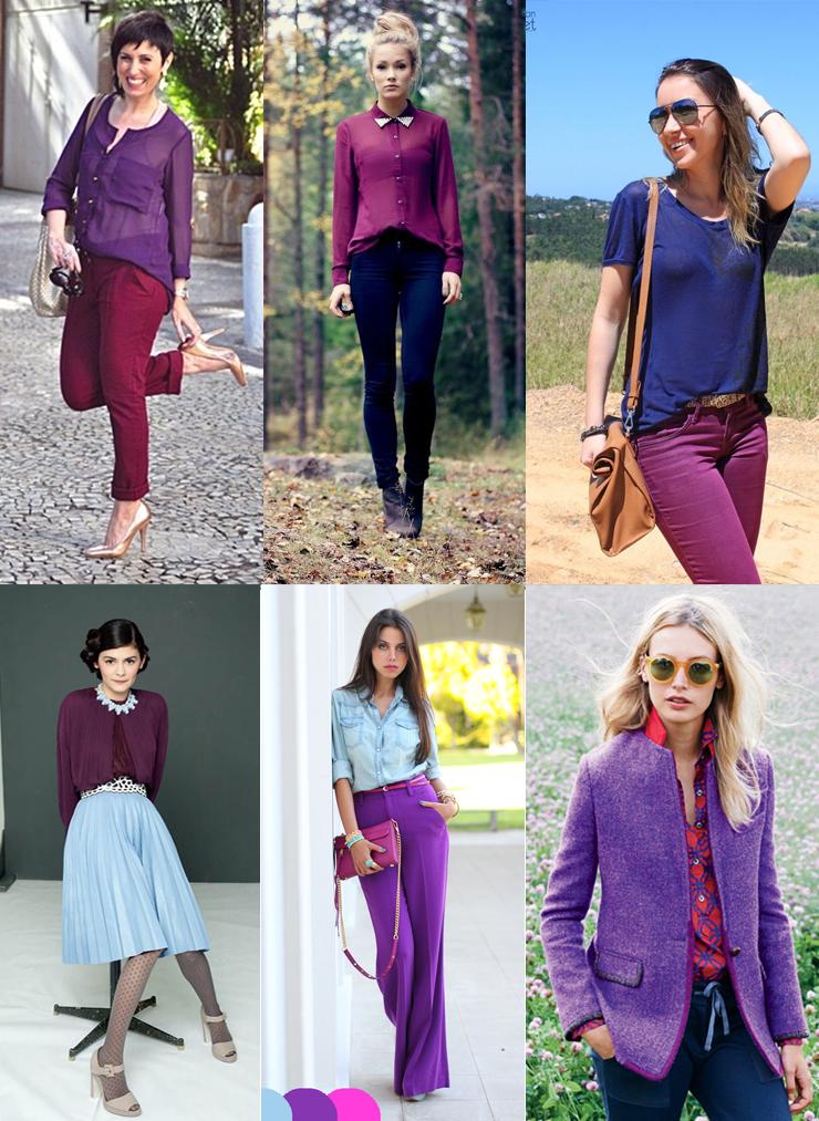 combinacao analoga roxo ultra violet