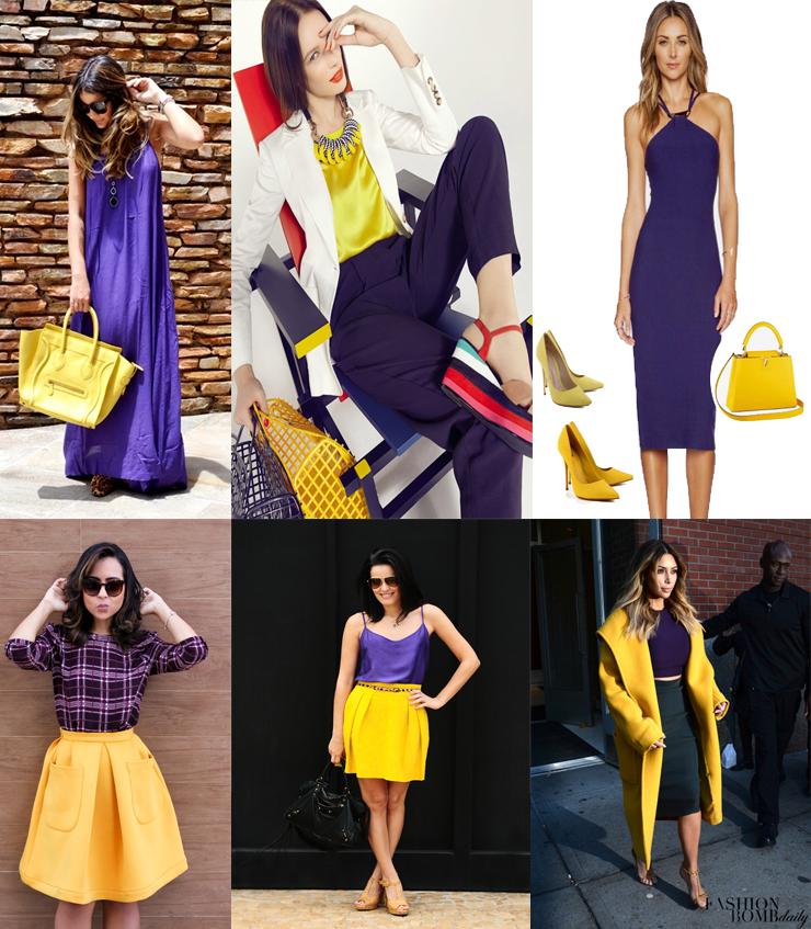 combinacao complementar roxo e amarelo