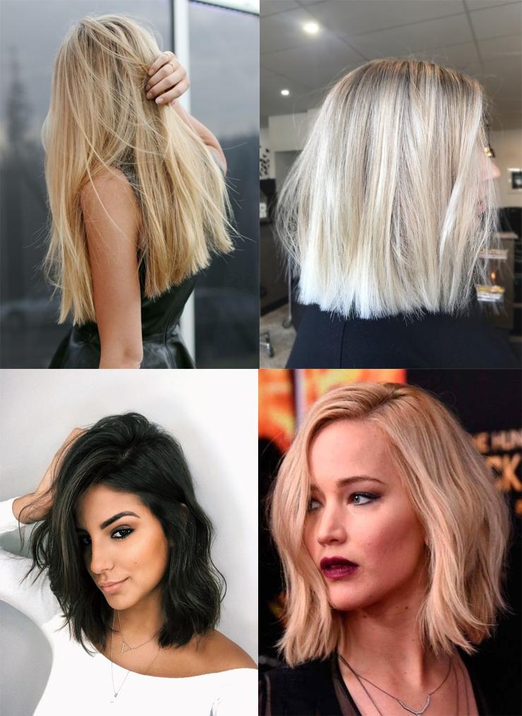 cortes de cabelo para 2018 blunt cut