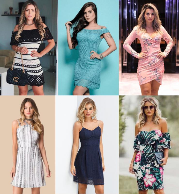 vestidos curtos femininos