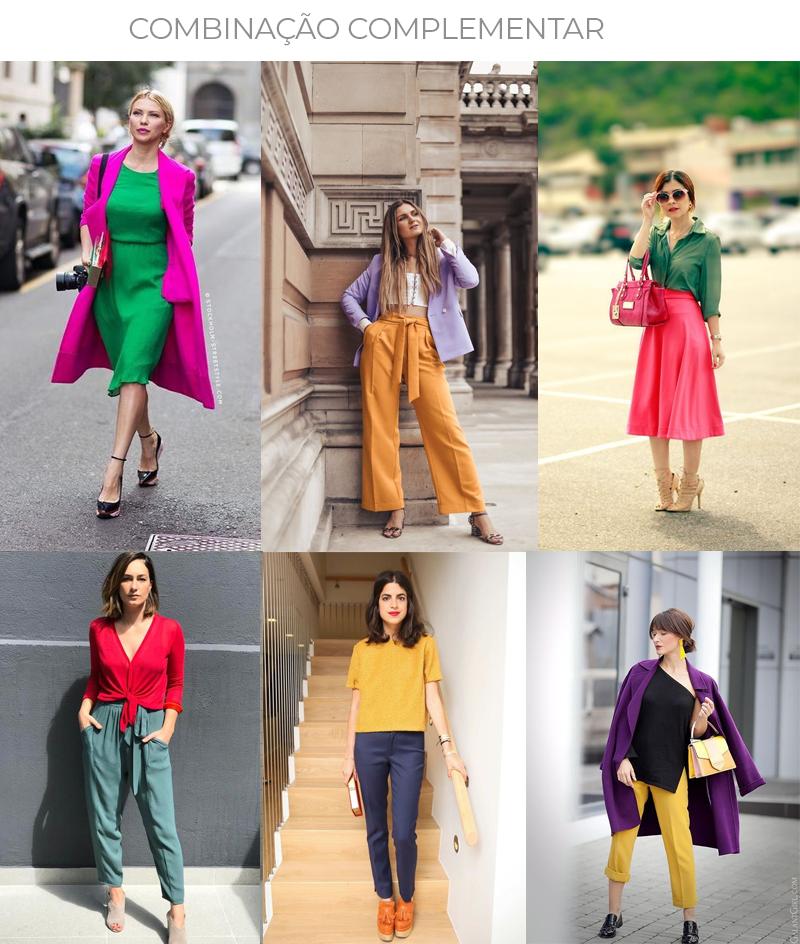 combinação complementar na moda